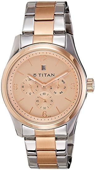 0582b59d0 Buy Titan Rose Gold Dial Analogue Metal Watch For Men - 9493KM03J Online at  Low Prices in India - Amazon.in