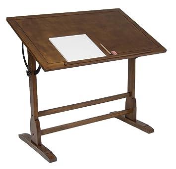 Attractive STUDIO DESIGNS 42in Vintage Drafting Table / Rustic Oak 13305