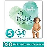 Prima Pure Bebek Bezi 5 Beden 34 Adet, Beyaz