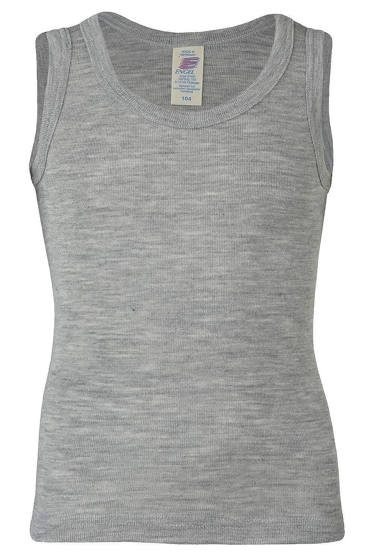 Kids Sleeveless Thermal Shirt: Base Layer or Pajama Top, Organic Merino Wool Silk, Sizes 2-13 years Engel 708000-KIDS-WOOL-TANK-TEE