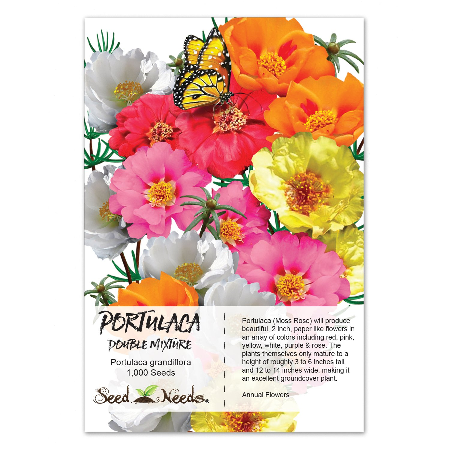 Amazon Package Of 1 000 Seeds Portulaca Double Mix Moss