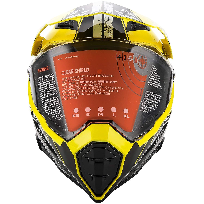 T Certificazione Endurance Race ATV ATV Casco M Giallo O MOTORFANSCLUB Casco da Motocross per Fuori-Strada Moto Casco Cross Country D