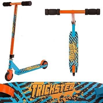 Street Surfing Trickster - Patinete de Acrobacias, Color Azul/Naranja, Talla N/A