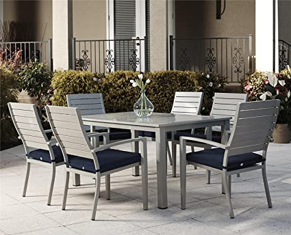 Amazon Cosco Outdoor Dining Table Hand Painted Aluminum Simple Aluminum Dining Room Chairs