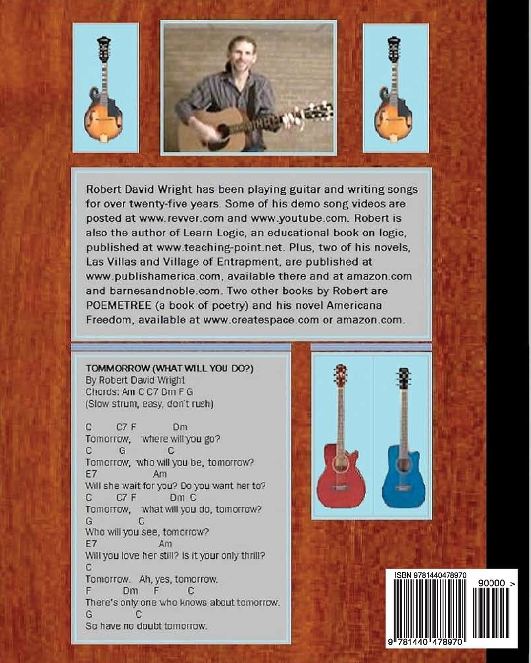 Robert David Wrights Songbook One: With Guitar Chords ...