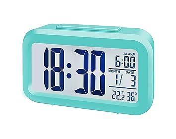 Bresser MyTime Duo Despertador LCD, Turquesa: Amazon.es: Jardín