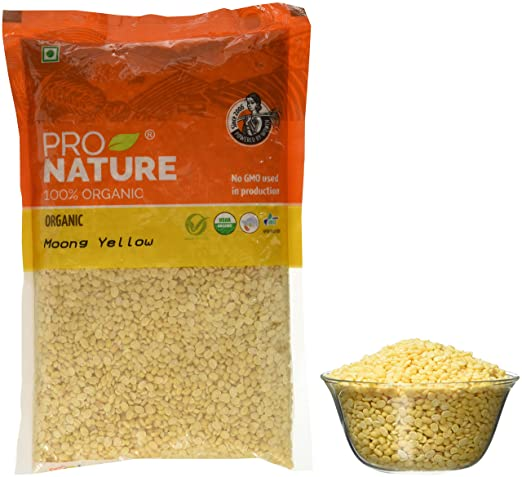 Pro Nature Organic Moong Yellow, 500g