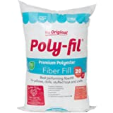 Fairfield the Original Poly-Fil Premium 100% Polyester Fiber Fill Bag, 20 Ounces, White