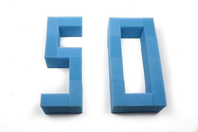 Sin marca Estera de esponja de filtro fina de 50 piezas Pecera ajusta Juwel Compact: Amazon.es: Hogar