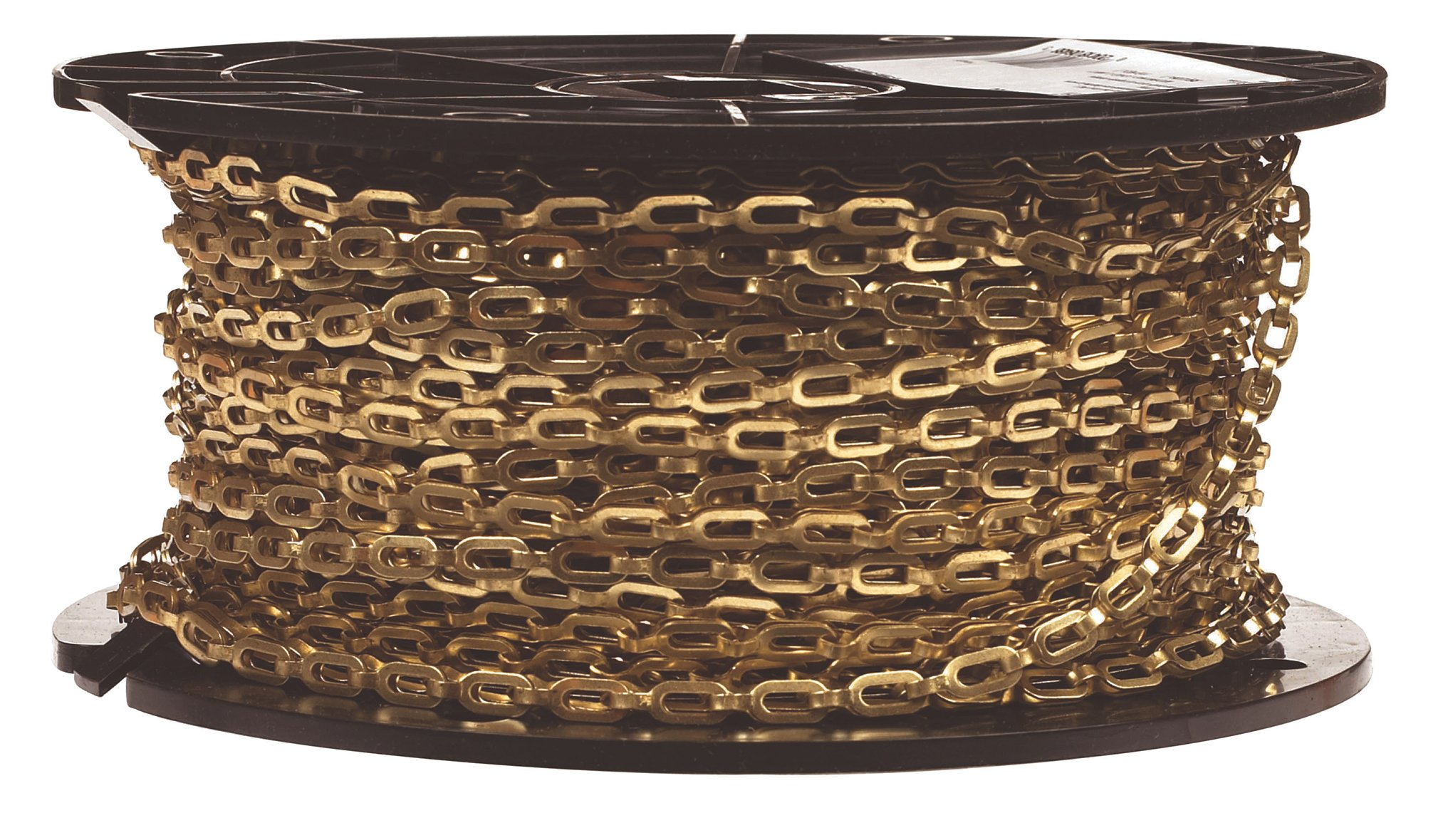 Campbell 0723817 Brass Plumbers Chain on Reel, Bright, 1/0 Trade, 0.02'' Diameter, 200' Length, 35 lbs Load Capacity