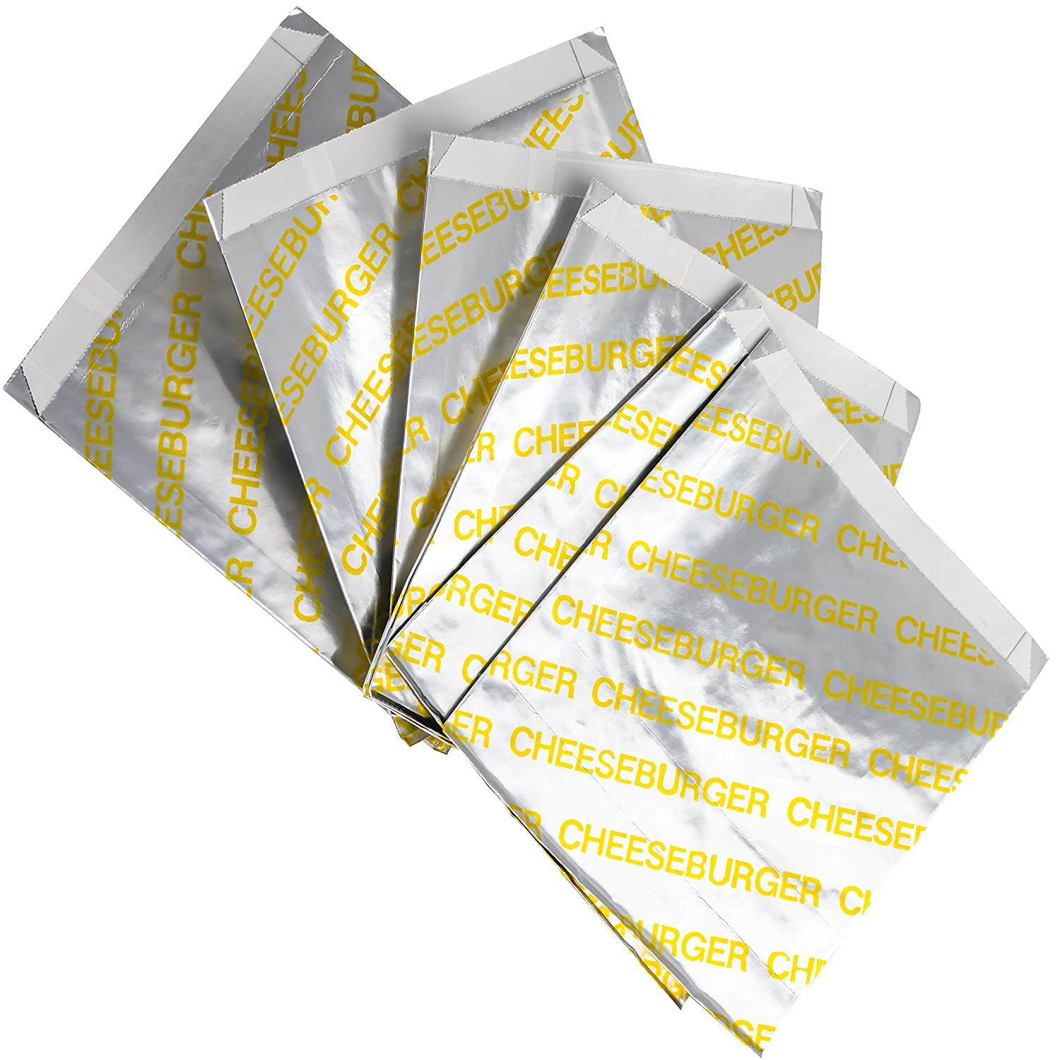 Retro, Grease Proof Burger Wrappers Combo 10Pk. Insulated, Pro Quality Bulk Cheeseburger Bags are BPA Free. Large, Allergen Friendly BBQ Foil Paper Great Cooking Supply for Themed Party