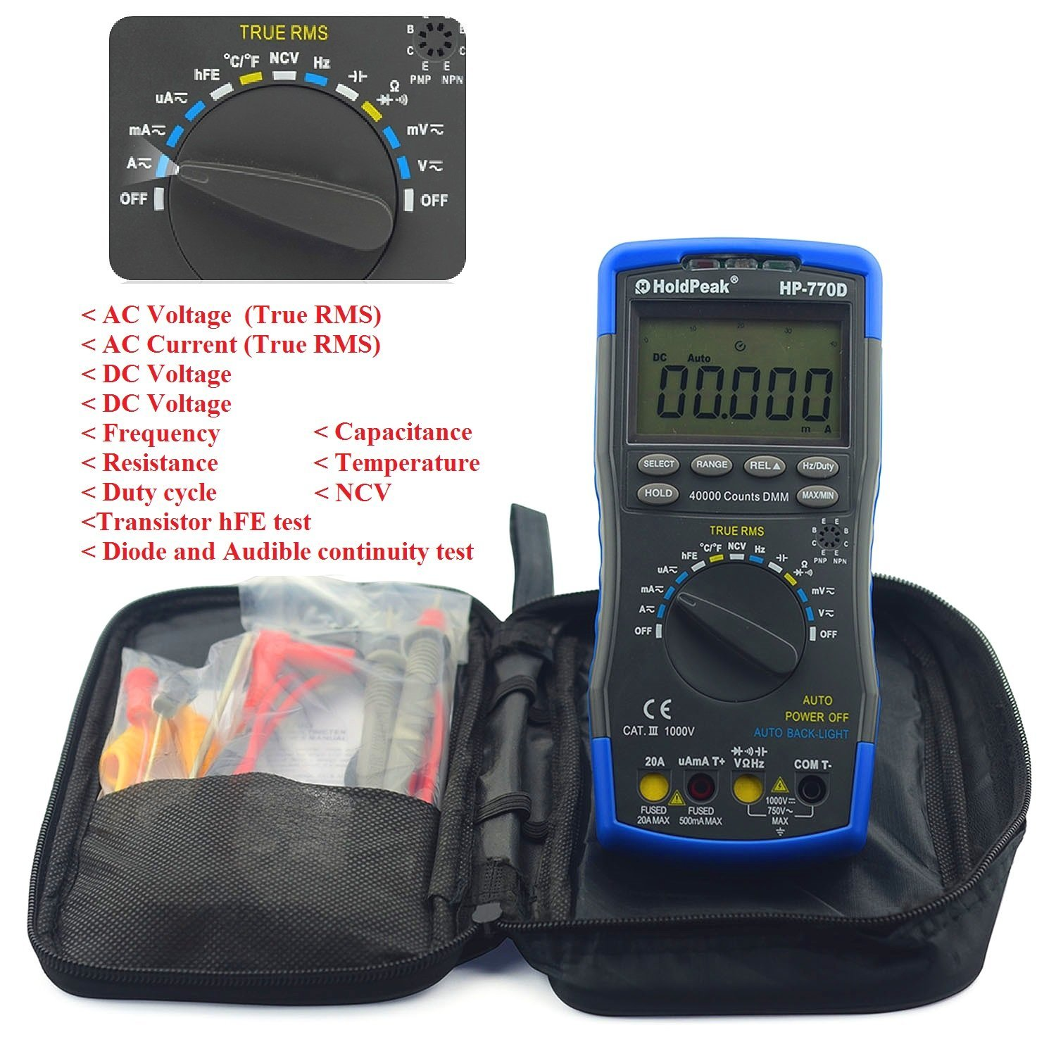 Amazon com innova 3320 auto ranging digital multimeter automotive - Amazon Com Holdpeak 770e High Performance Auto Ranging Digital Multimeter With Temperature Frequency And Data Hold Function Widely Used In Home School