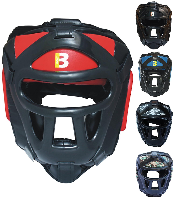 BOUT3 Cascos de Boxeo para Lucha de Entrenamiento de Combate de MMA con protecció n Facial Completa Oxlam Industries