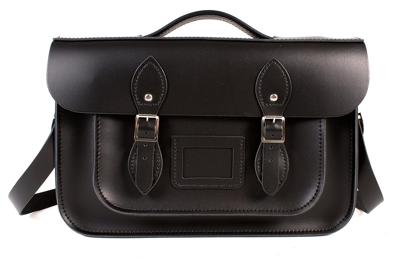 Oxbridge Satchels - Bolso estilo cartera de Piel para mujer Negro negro: Amazon.es: Zapatos y complementos
