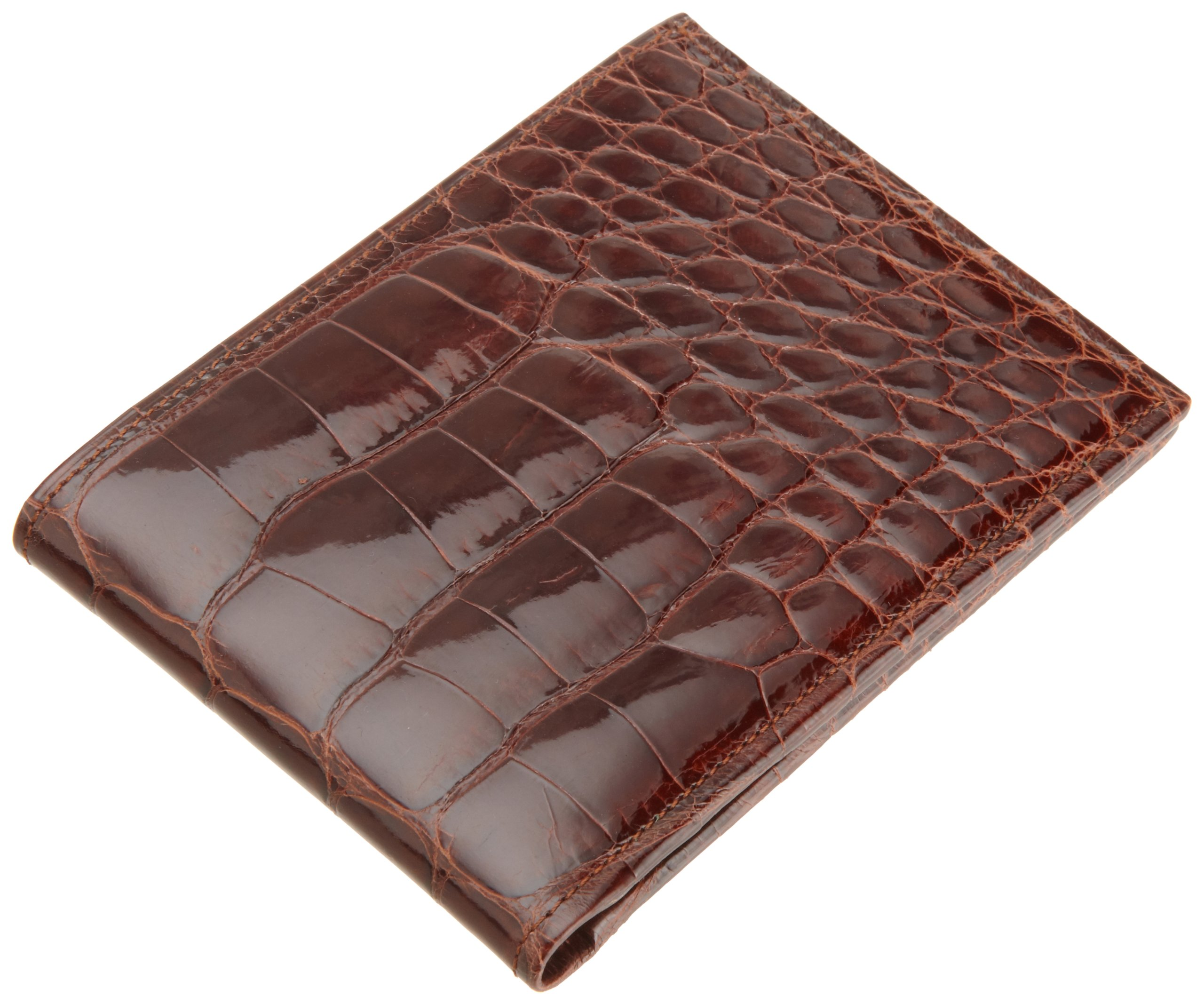 Trafalgar Men's Alligator Billfold,Chestnut,One Size