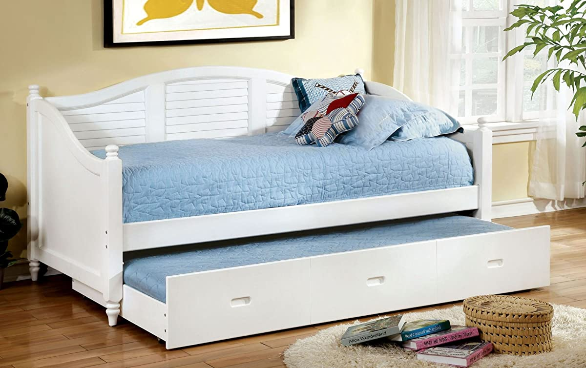 Bel Air White Trundle Daybed