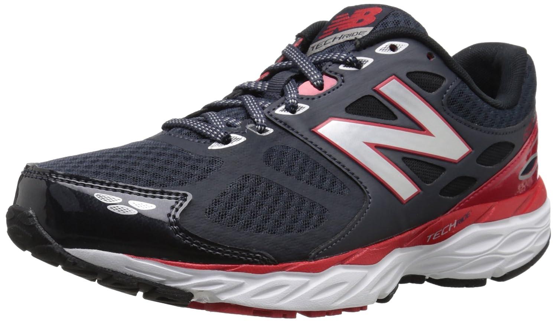 New Balance Men's 680v3 Running Shoe 42.5 4E EU|Gris / Rojo