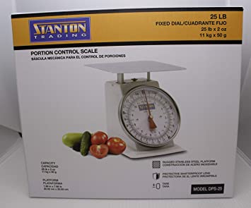 Stanton Trading Portion Control Scale, analog, 25 lb