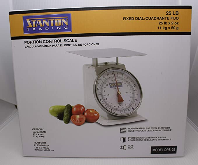 Amazon.com: Stanton Trading Portion Control Scale, analog, 25 lb: Kitchen & Dining