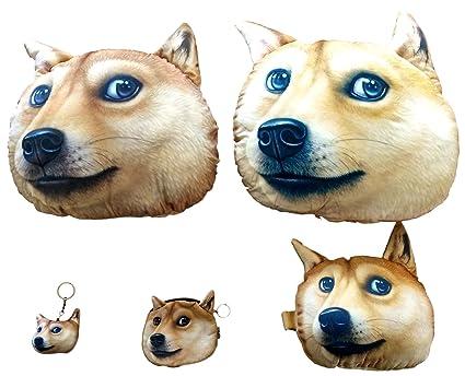 Amazon.com: Comfy zona efecto 3d Pet Face almohada 5 piezas ...