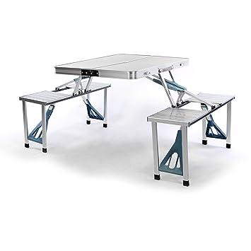 Amazonde Nexos Sitzgruppe Camping Aluminium Tisch 4 Hocker Stuhl