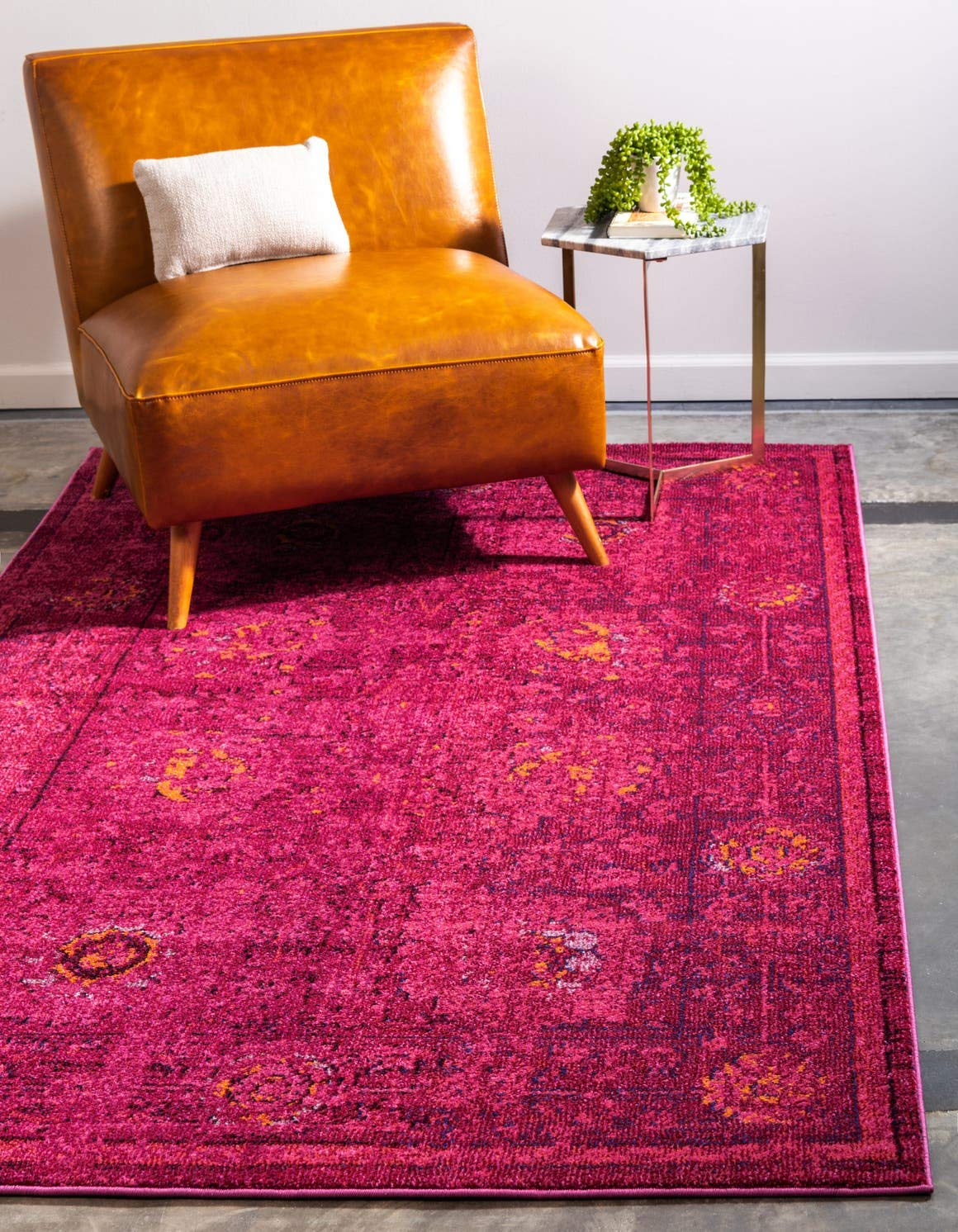 Unique Loom Medici Collection Vintage Botanical Traditional Red Area Rug 3 3 x 5 3