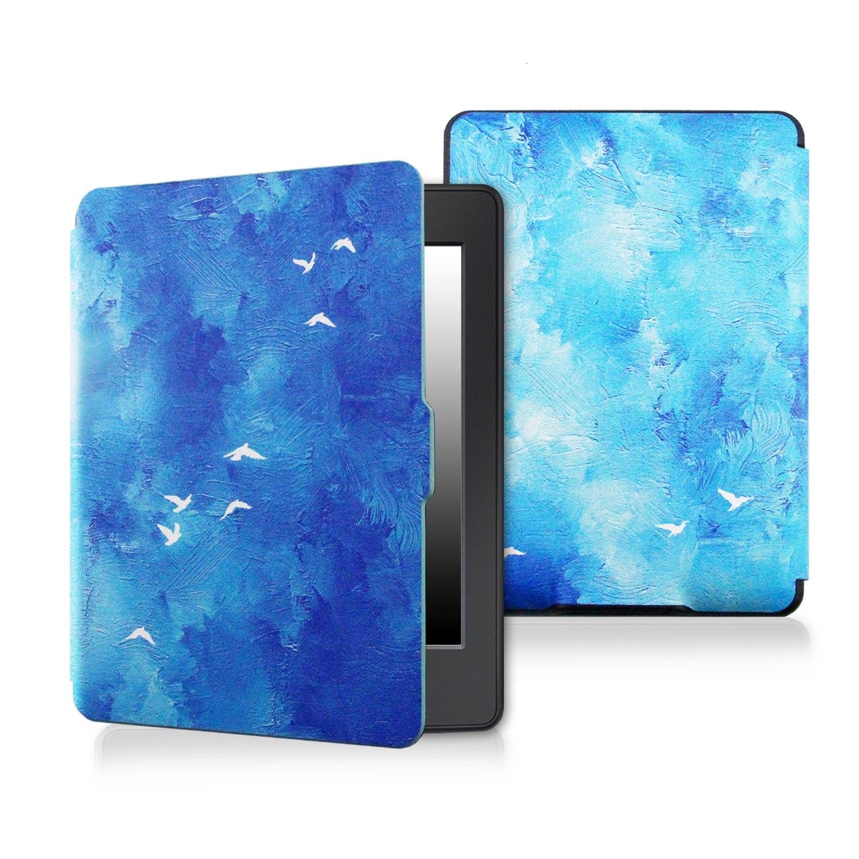 ケースfor Kindle paperwhite-originalデザインCaseスキンwith Auto Wake / Sleep for Kindle Paperwhite ( Fits 2012、2013、2015年、2016バージョン) Blue bird 123 Blue bird  B073WL9GJ3