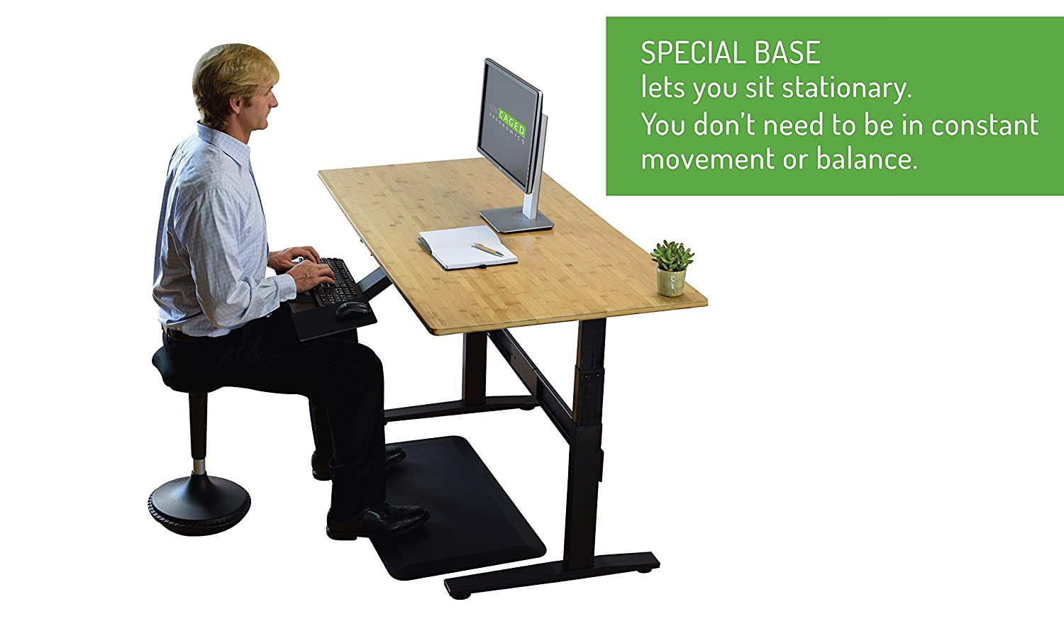 Simply owning an ergonomic chair is not enough if you don t know how - Amazon Com Uncaged Ergonomics Wobble Stool 2 Tall Adjustable Height Active Sitting Office Chair Ergonomic Standing Desk Swivel Stool Black Wsr B