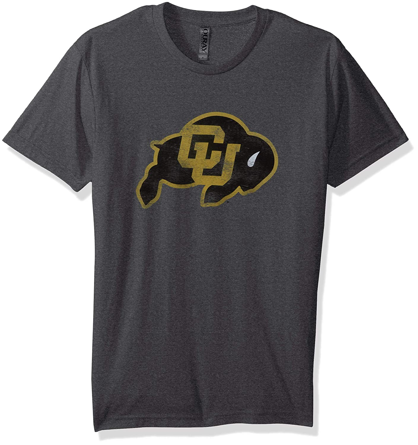 NCAA Colorado Buffaloes Mens Tri Blend Short Sleeve Tee Small Premium Heather