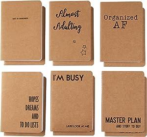 Kraft Paper Notebook Journals (4 x 6 In, 12-Pack)