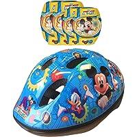 Disney-K865507 Mickey Mouse Casco, Coderas y Rodilleras
