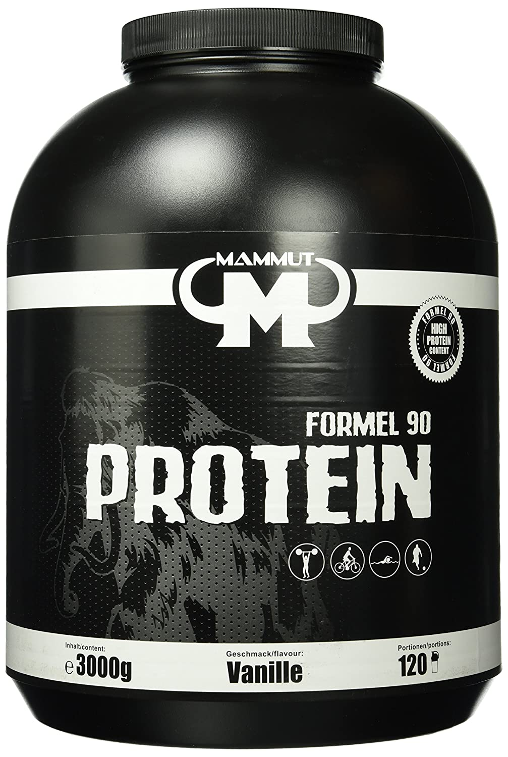 coupon codes multiple colors attractive price Mammut Formel 90 Protein, Vanille, 3000 g Dose