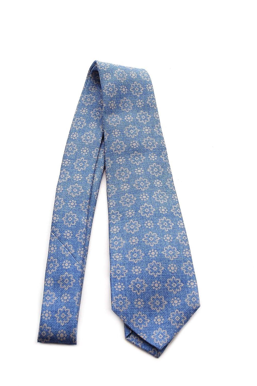 Kiton cravatta sette pieghe da uomo avio, UCRVKRC08F820500C ...