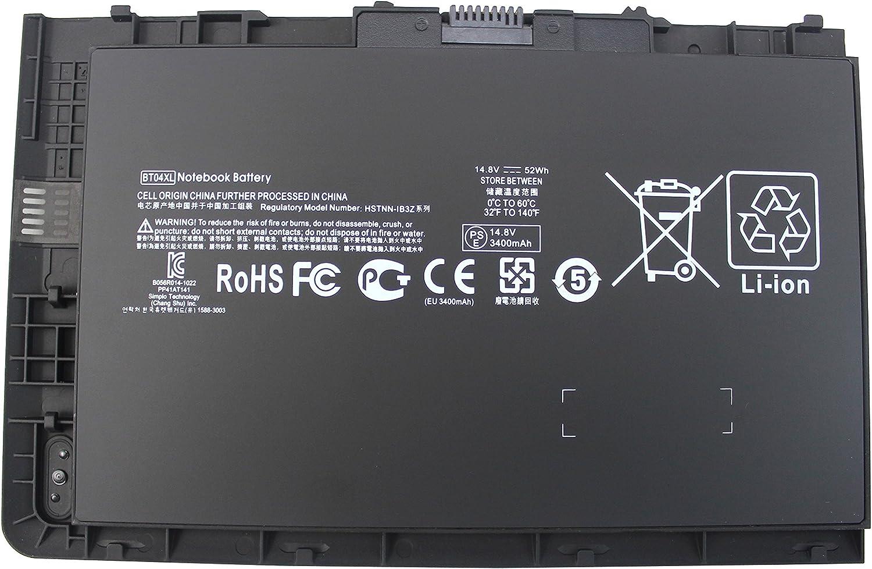 BT04XL Battery Compatible HP Elitebook Folio 9470 9470M 9480M Ultrabook 687945-001 BT04 BT04XL BA06 BA06XL H4Q47AA H4Q48aa HSTNN-IB3Z HSTNN-I10C 687517-241 687517-171 HSTNN-DB3Z [14.8V 52WH]