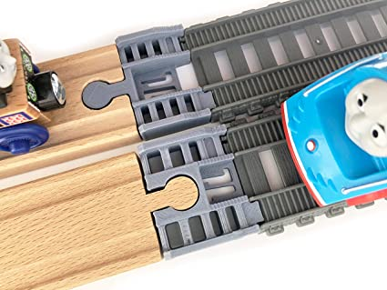 TrainLab TrackMaster 2014-cur to Wooden Railway Train Track Adapter
