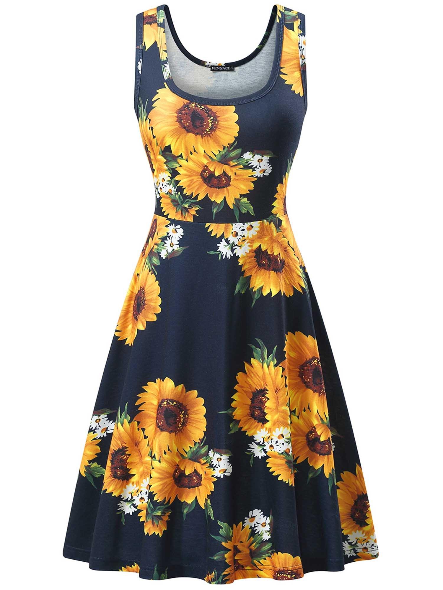 FENSACE Women's Sleeveless Summer Casual Beach Dress
