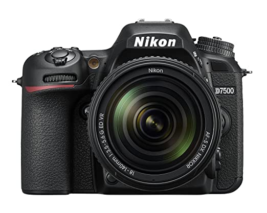 Nikon D7500 20.9MP Digital SLR Camera (Black) with AF-S DX NIKKOR 18-140mm f/3.5-5.6G ED VR Lens(with Bag) Digital SLR Cameras at amazon