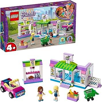 Oferta amazon: LEGO Friends - Supermercado de Heartlake City Nuevo set de construcción de Tienda de Juguete con Carrito de la Compra y Puestos de Comida, incluye Coche Descapotable Rosa (41362)