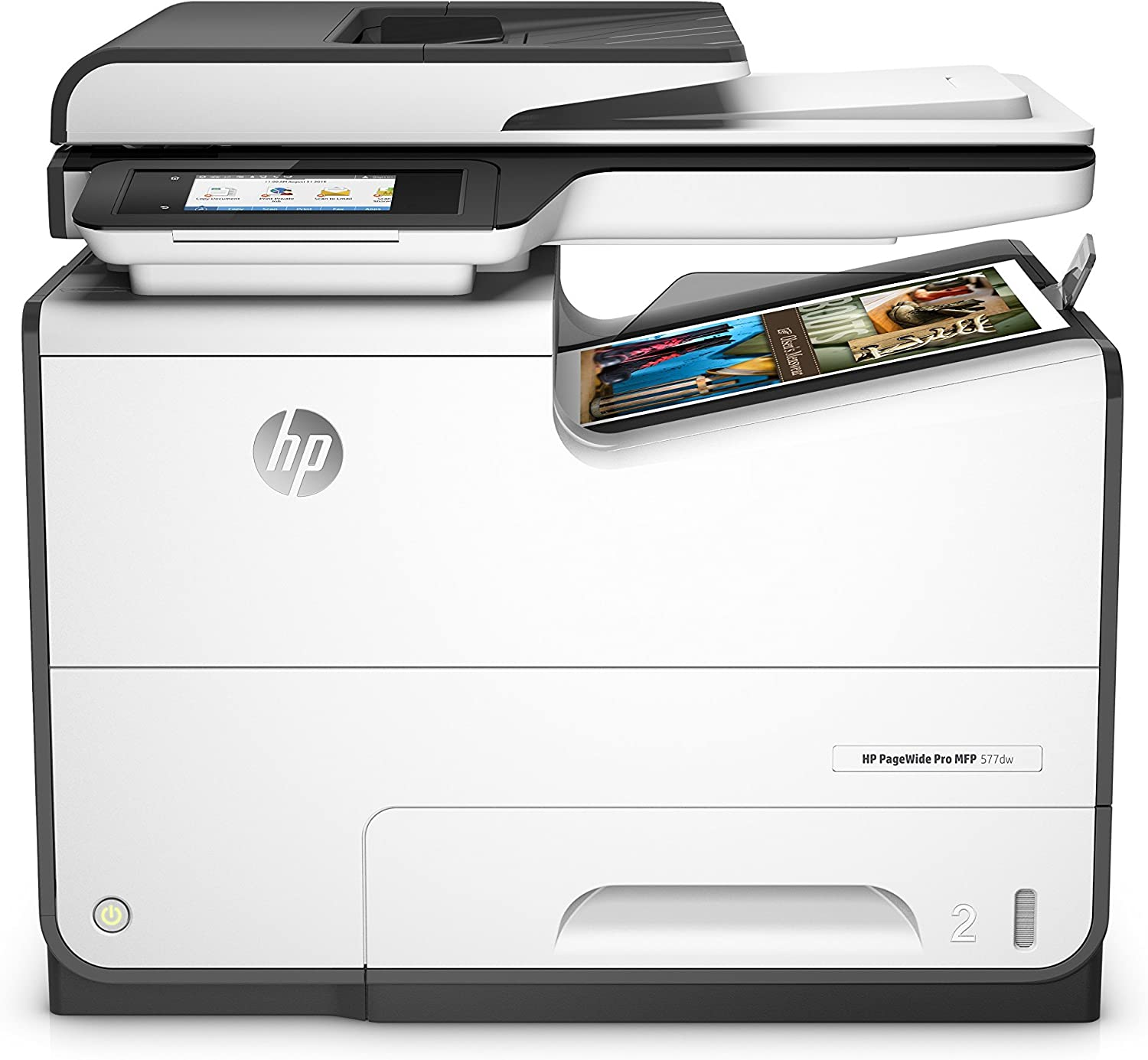 HP PageWide Pro 577dw Color Multifunction Business Printer with Wireless & Duplex Printing (D3Q21A) (Renewed)