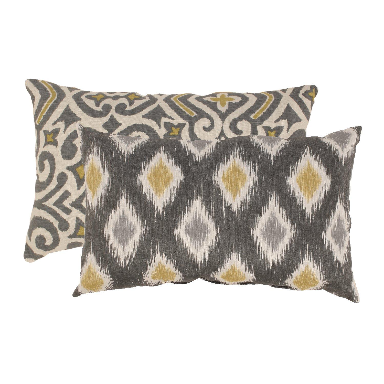 Amazon.com: Pillow Perfect Damask and Rodrigo 16.16-Inch Throw ...