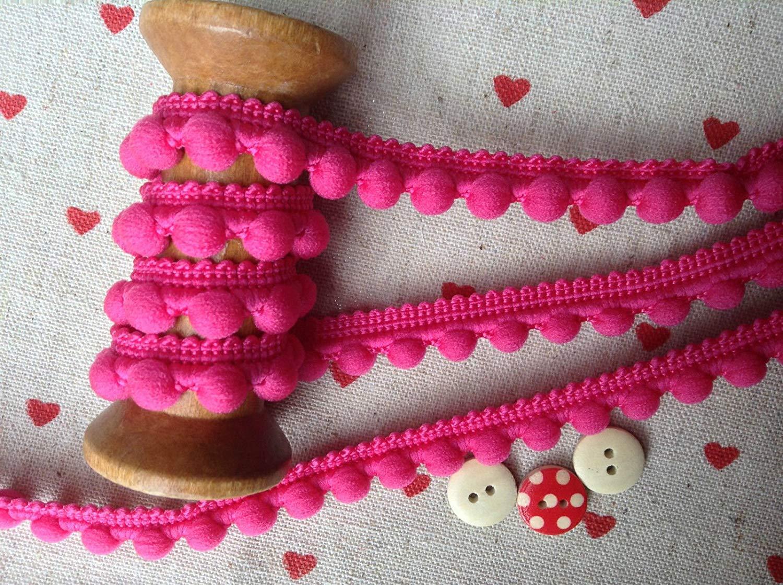 Heimdekoration 5 m LushFabric Perlenbommel mit Fransenbesatz mittelgro/ß 10 mm Kissen und Vorhangdekoration 26 Farben Dunkelbraun