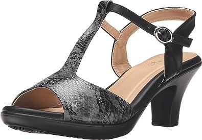 PATRIZIA Women's Toad Black Python Sandal