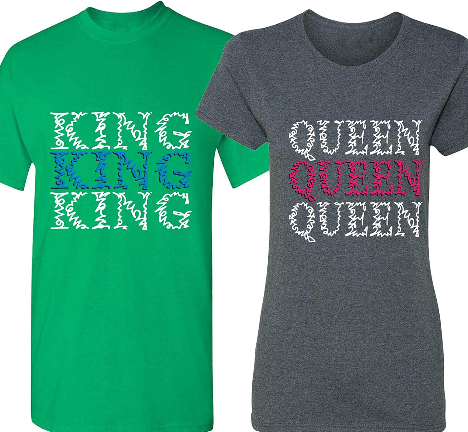 Amazon.com: King & Queen - Matching Couple Shirts - His and ...
