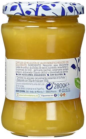Hero - Diet - Confitura de Melocotónes - 280 g - [pack de 6]: Amazon.es: Alimentación y bebidas