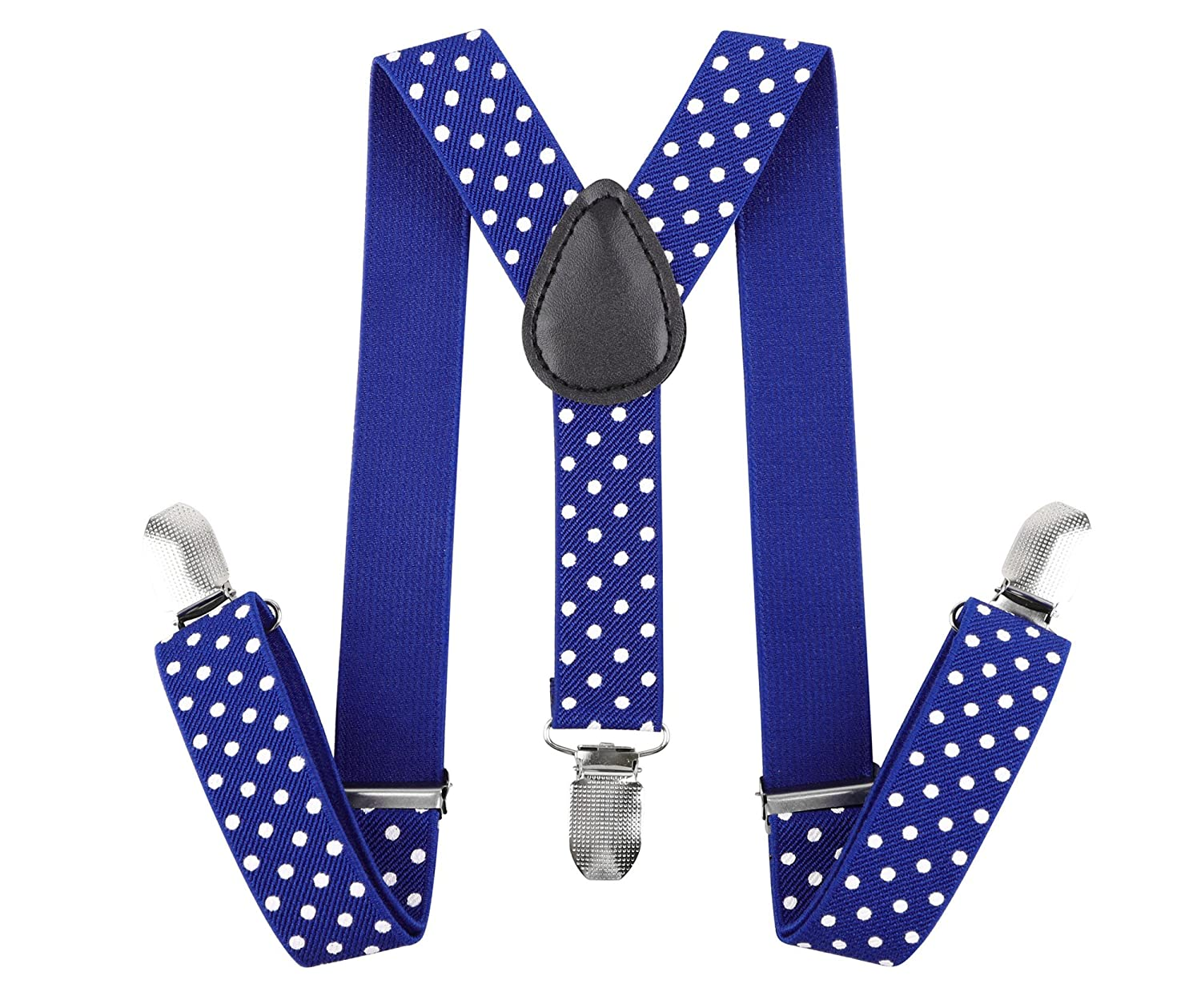 Livingston Adjustable Elastic Suspenders for Children Boys Kids, Assorted Colors