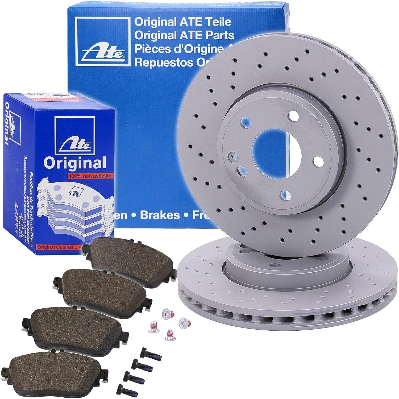 Genuine Ate Brake Set Brake Discs And Brake Pads Kit Brake Set Kit Ventilated Holes Ø295 Front Auto