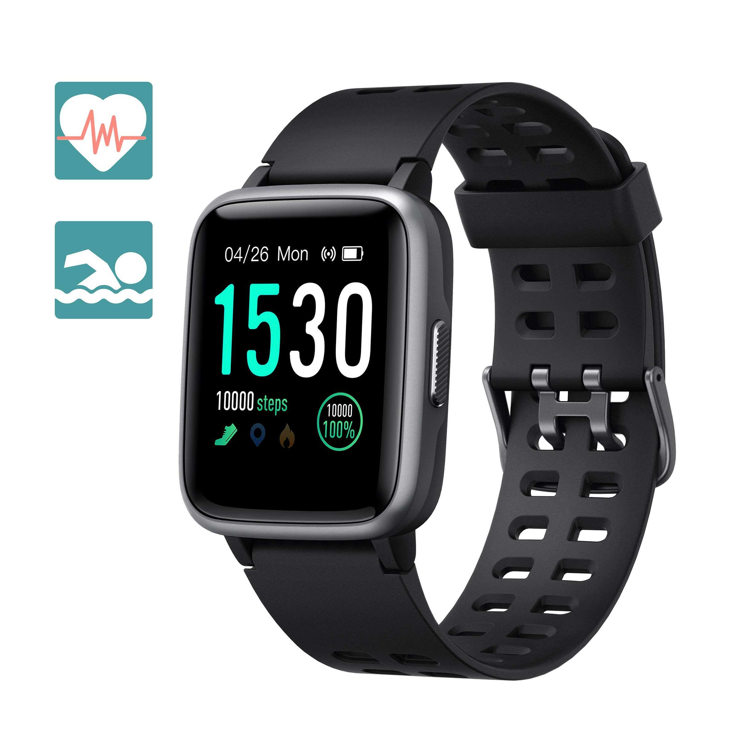 Arbily Reloj Inteligente Pantalla Táctil Completa Pulsera de Actividad Smartwatch Mujer Hombre Niño Reloj Deportivo a Prueba de Nadar Impermeable Podómetro Monitor de Sueño para iOS Android product image