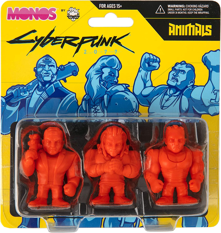 JINX 10630 Cyberpunk 2077 Monos Animals Set Series 1 Figures
