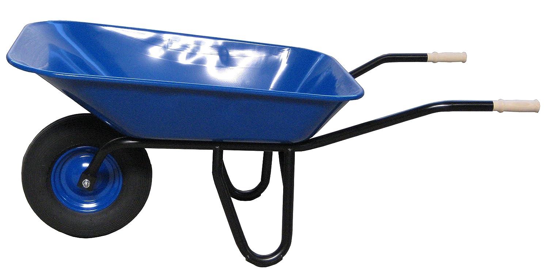 profi-baukarre Schubkarre Typ 95, Luftbereifung, 1 Stück, blau lackierte Stahlmulde, 106.4