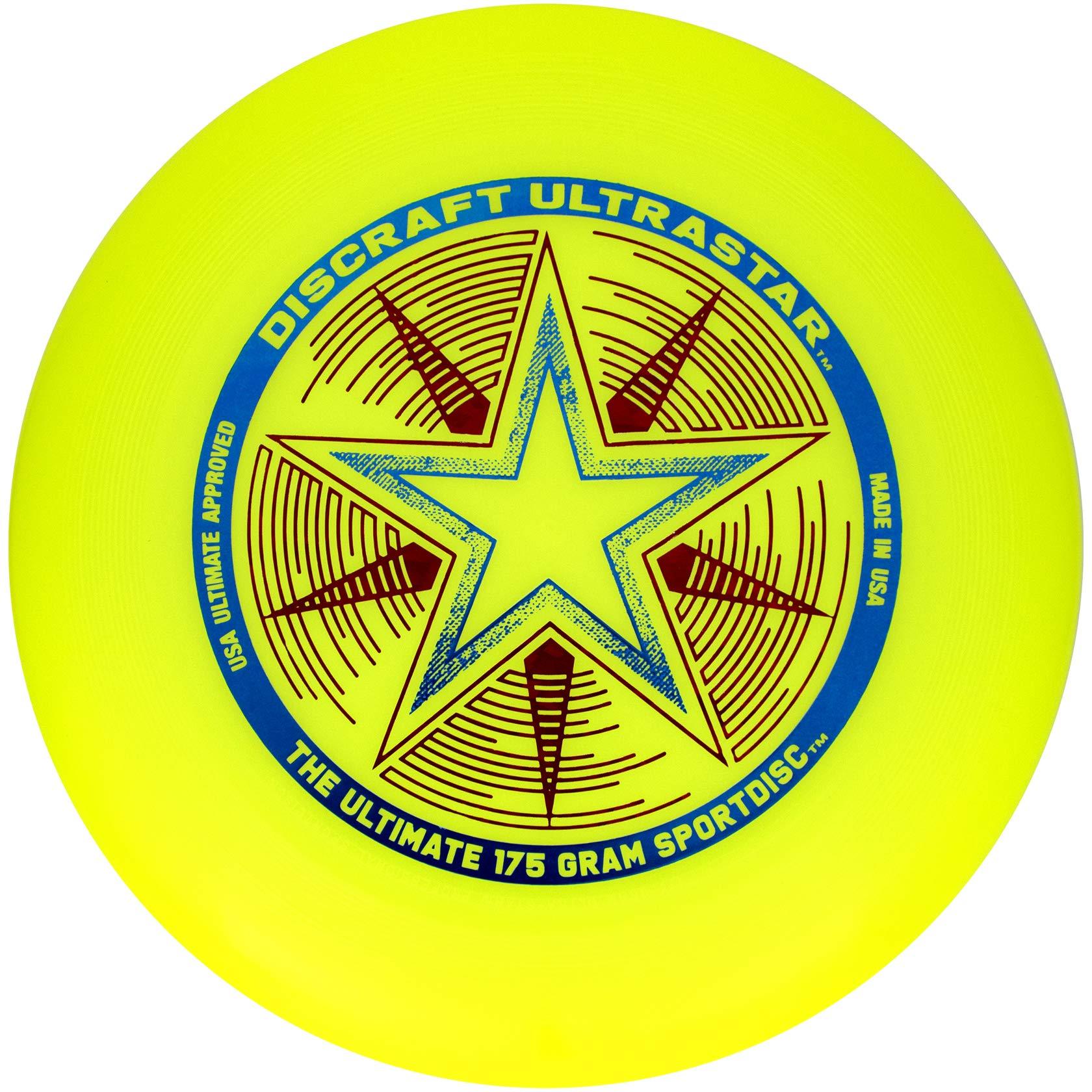 Discraft 175 gram Ultra Star Sport Disc, Fluorescent Yellow by Discraft